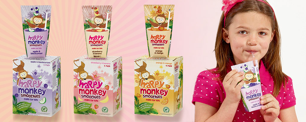 Happy Monkey smoothies for kids